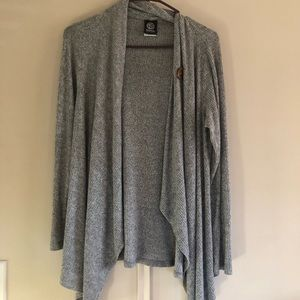 soft gray lightweight cardigan